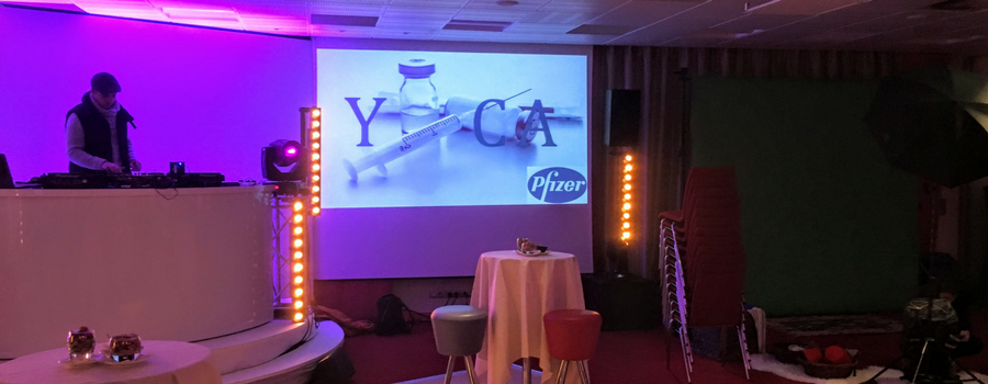 Animation blind test cocktail dinatoire pour Pfizer (90pers.)