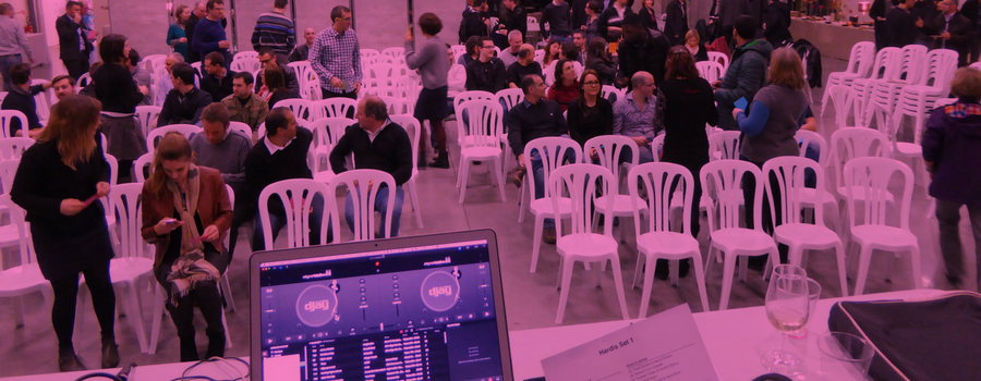 animation blind test 200 personnes durant cocktail dinatoire pour Hardis Groupe, à Grenoble
