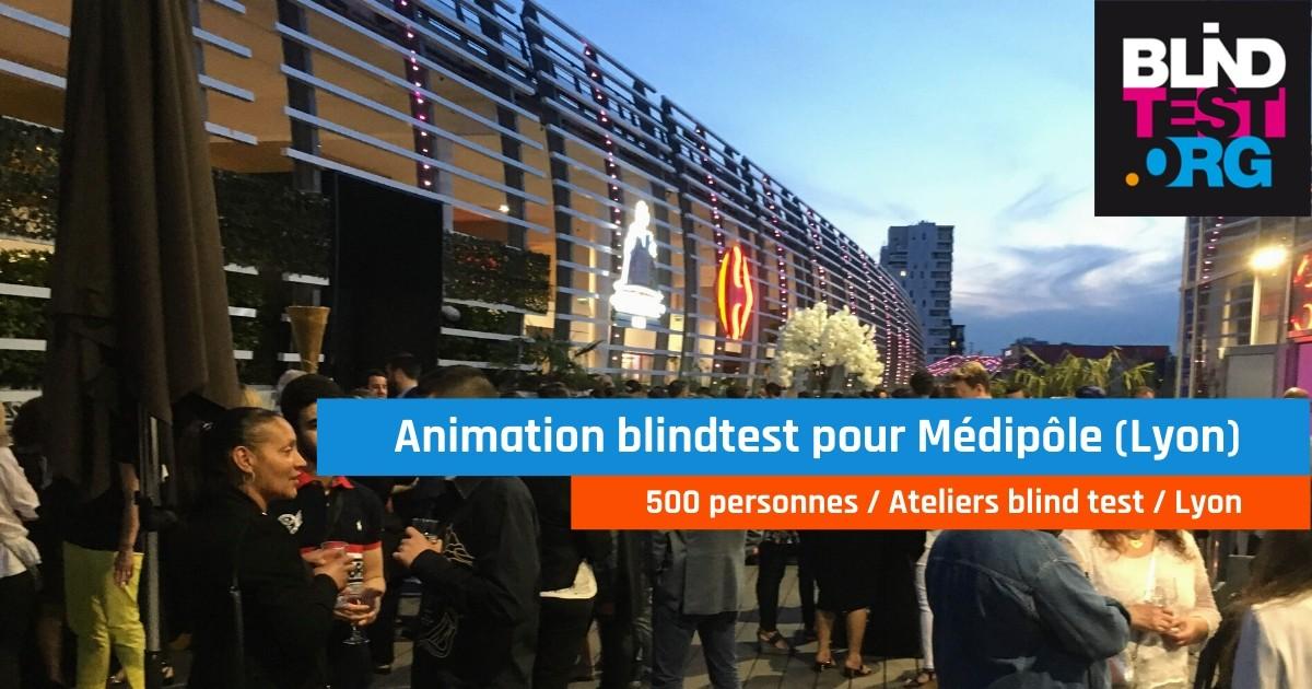 Animation Atelier blind test 500 personnes pour Medipôle au Pavillon de la Soie (69)
