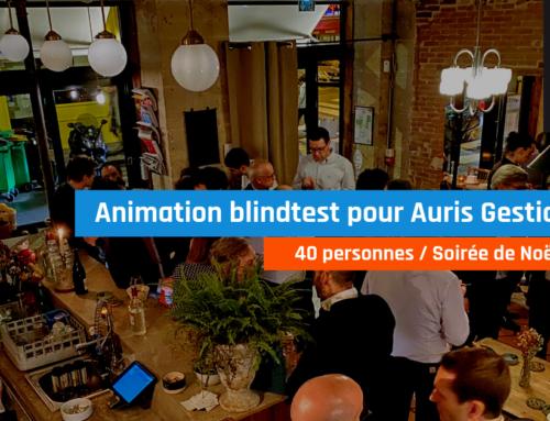 Animation blindtest soirée de Noël pour Auris Gestion (40 pers, Paris)